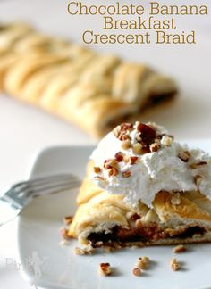Chocolate Banana Breakfast Braid for breakfast or dessert! YUM.