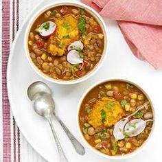 Slow-Cooker Pinto Bean Stew with Jalapeño-Corn Dumplings
