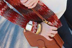 MK watch, coach bag, vintage jewelry