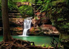 Waterfall Bridge, Hocking Hills, Ohio