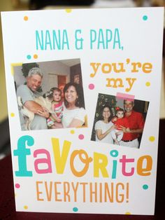@leahherring paired a sweet dessert with a customized Treat card for a perfect Grandparents Day celebration.