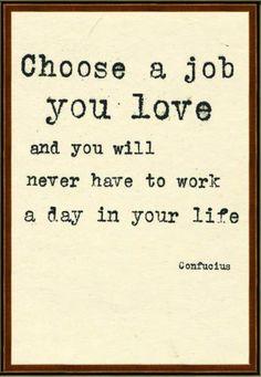 choose a job you love