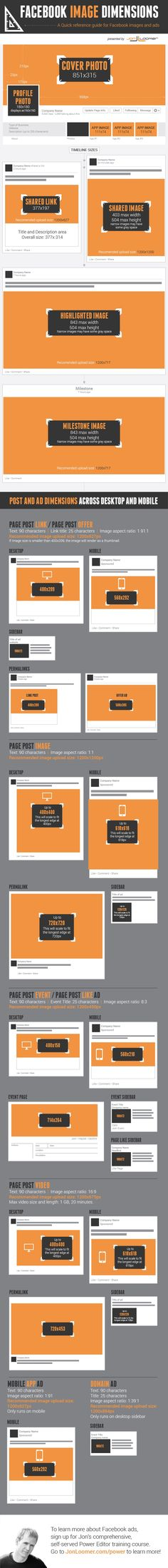 INFOGRAPHIC: Facebook Image Dimensions Guide - AllFacebook
