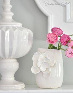 diy petals vase--so cute