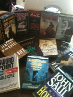 '13 Audio Books Stephen King, Anne Rice plus more' is going up for auction at  7pm Sat, Sep 7 with a starting bid of $5.