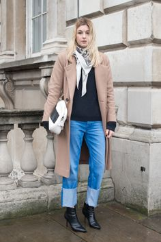 Camille C spotted wearing the AMORE boot at LFW