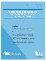 Study: Minority Students In Oregon More Likely To Be Suspended (OPB, 5/8/2014). Suspension and expulsion patterns in six Oregon school districts by United States Department of Education.