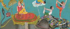 Hajek art inspired by India