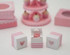 miniature cupcake boxes