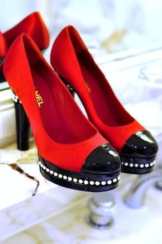 Chanel red pumps -