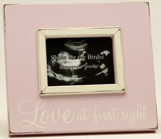 Love at First Sight Pink Sonogram Picture Frame