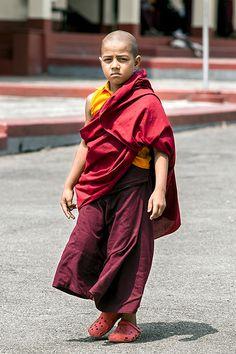 A young Tibetan monk