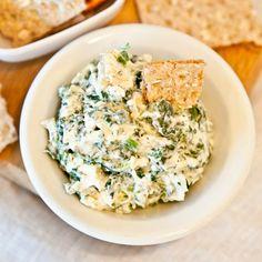 app, finger food recipes, spinach artichoke dip, healthi spinach, party food recipes, chip dips, snack, spinachartichok dip, healthy spinach dip