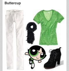 Powerpuff girls costume: Buttercup