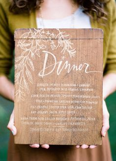 Menu, At the start of the buffet line?