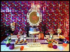 Dessert table at a Halloween Party #Halloween #party
