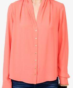 F21 shawl collar georgette top $29.80