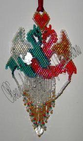 Dragon Waltz Pendant or Ornament, Sova Enterprises