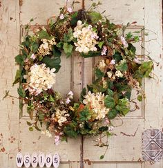 English Garden Summer Door Wreath