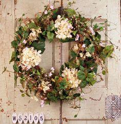 English Garden Summer Door Wreath