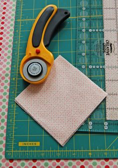 Cutting Fabric with a Rotary Cutting Mat