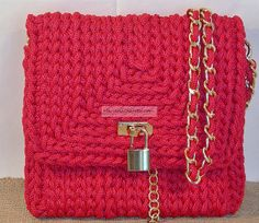 Red Passion Bag, lanyard. By Clara Negri.