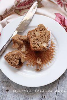 {gluten free} apple cake muffins
