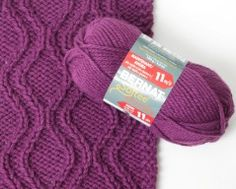 A free knitting pattern for a block-of-the-month afghan featuring Softee Chunky by Bernat!