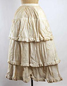 ca 1880 Petticoat, linen