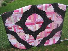 Just finished!  Breast Cancer quilt for Relay For Life!