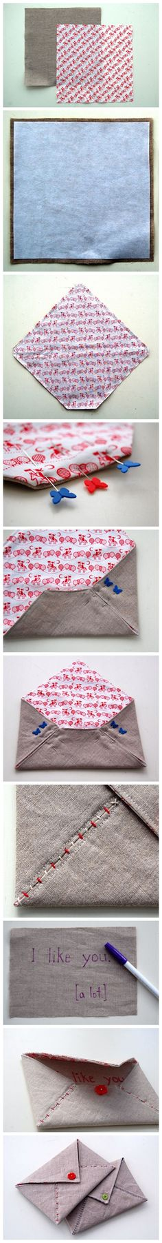 Cute fabric envelope
