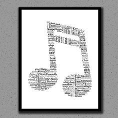 Music Note Print, Music Note, Art, Music Teacher, Print, Gift, Classical, Wall Decor, Wall Art, Nursery, Children, Kids, Orchestra, Band
