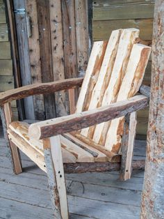 Montanarondack  The Hand Hewn Adirondack Chair of by jgrant0214, $220.00