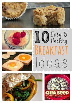 10 Easy and Healthy Breakfast Ideas