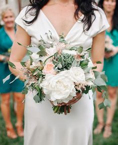 Blush and sage green bouquet