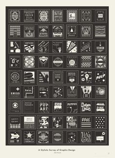 Pop Chart Lab --> Design + Data = Delight --> A Stylistic Survey of Graphic Design