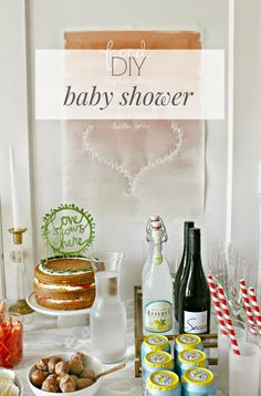 DIY tips and tricks for throwing a gorgeous baby shower on a budget! Great ideas!