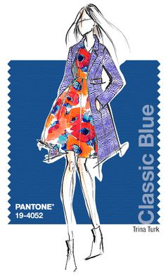 Trina Turk in Pantone Classic Blue - SPRING 2015 PANTONE's #FashionColorReport