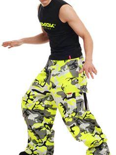 Amok Neon Green Camo Pants