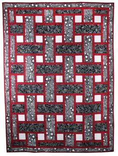 PDF Quilt Pattern, Woven Tiles, Easy Quilt Pattern, Instant Download