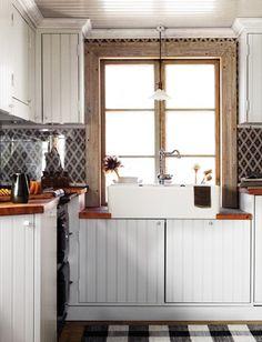 kitchens, frame, kitchen backsplash, tile, black white