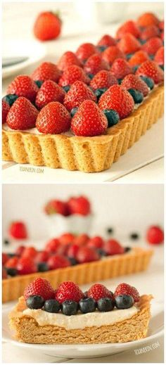 Greek Yogurt Berry Cookie Tart. Perfect for the 4th!