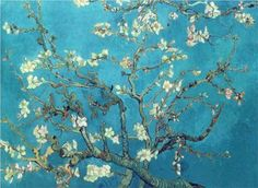 Branches with Almond Blossom  - Vincent van Gogh almonds, tree, blue, color, poster, almond blossom, branch, amsterdam, vincent van gogh