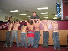 Amazing idea for a boy's birthday party...fake tattoos