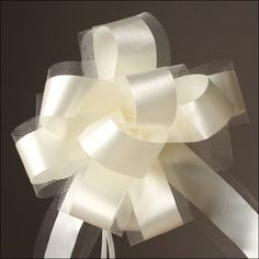 Bows - Easy-Pull 7 inch Pew Bow - Ivory