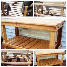 #DIY potting bench