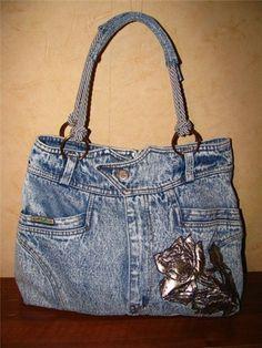 Шьем оригинальную сумку из джинсовой юбки! Мастер-класс.