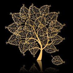 Golden Trees Free Vector Illustration @freebievectors