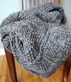 Chunky Hand-Knit Bla