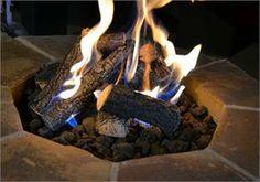 "18"" Charred Campfire Outdoor Log Set $149.00"